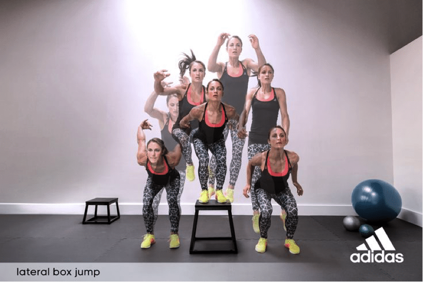 Lateral box jump test demonstration