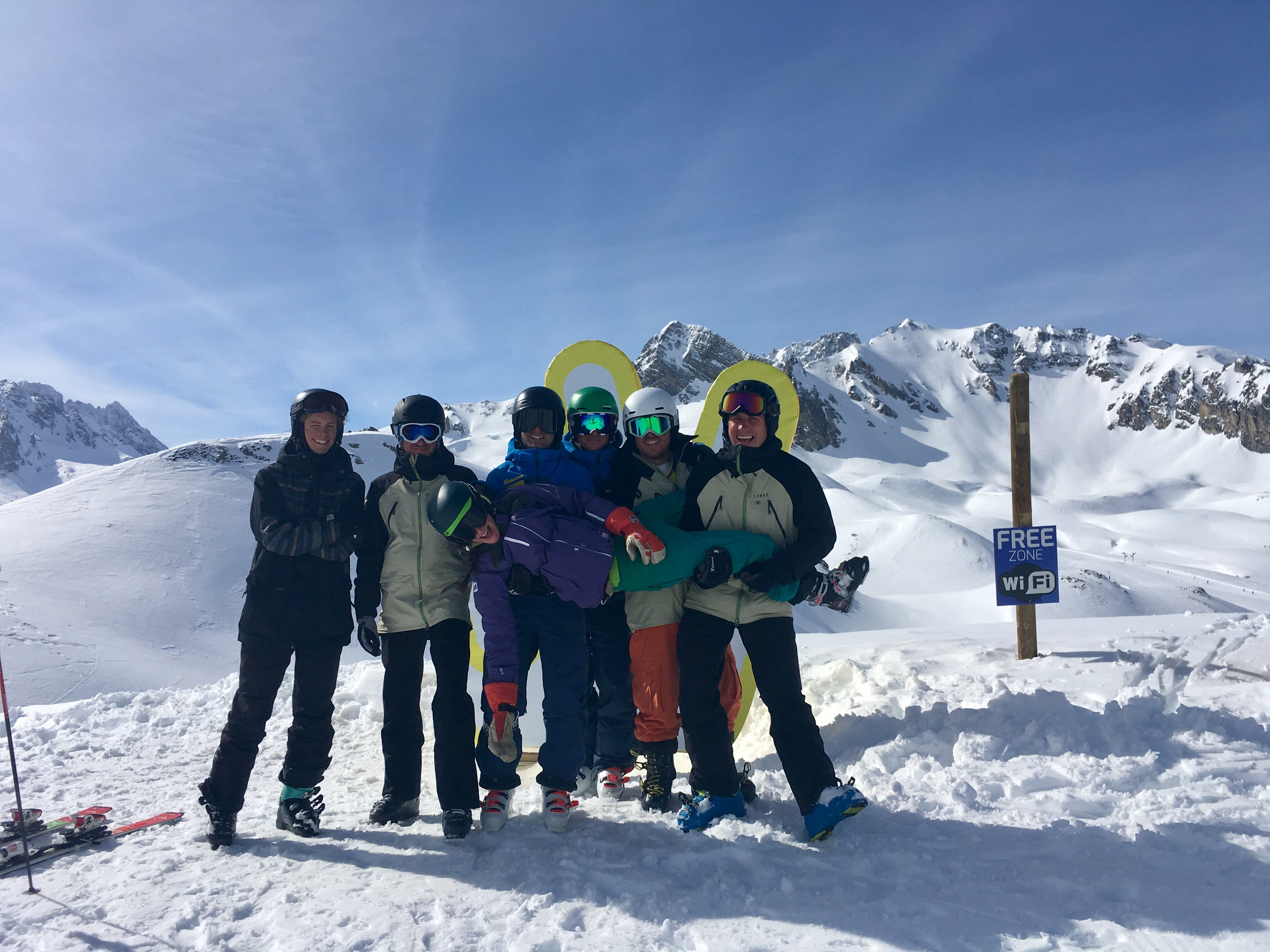 Courchevel gap ski instructor course students having fun