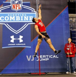 Vertical jump fitness test example