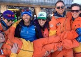 Villars ski instructor work and train team