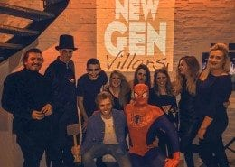 The New Generation Heroes and Villars party at the moon boot lounge
